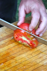 The Art of Slicing a Tomato